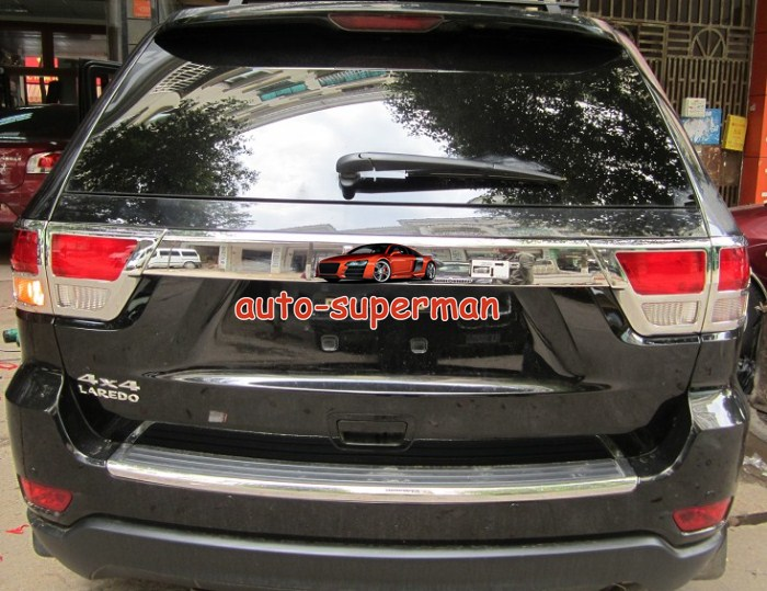 Chrome Tail Light Cover Trims 4pcs for Jeep Grand Cherokee 2011 2012