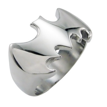 Mens Silver Batman Stainless Steel Ring US Size 9 10 11 12 13