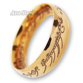 Lord of the Ring Gold Stainless Steel Men's Band Ring US Size 7, 8, 9, 10, 11 in Jewelry & Watches, Fashion Jewelry, Rings | eBay
