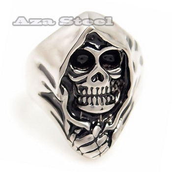 Men's Grim Reaper Skull Biker Stainless Steel Ring Size 8, 9, 10, 11, 12, 13 in Jewelry & Watches, Fashion Jewelry, Rings | eBay