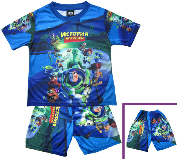 Blue-Buzz-Lightyear-2pcs-suit-Toy-Story-Boy-T-shirt-Clothes-amp-Pants-MA311