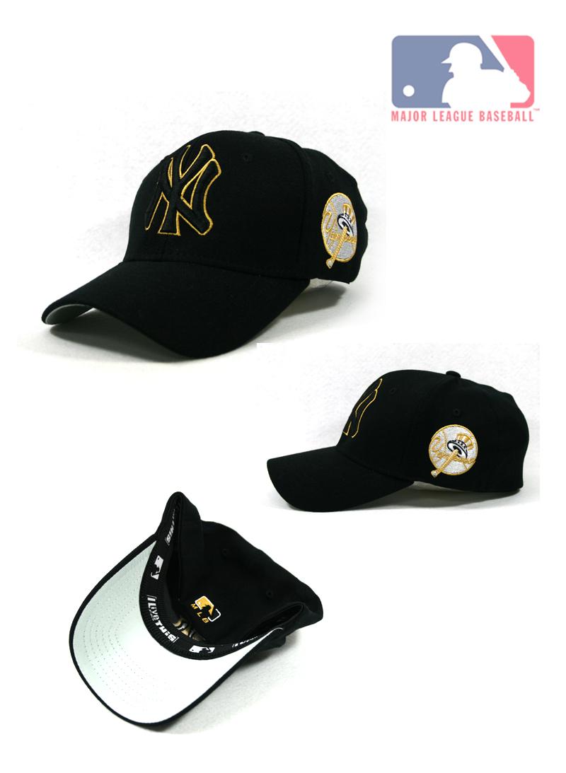 New York Yankees MLB Baseball Cap for Men and Women. Black cap with Gold
