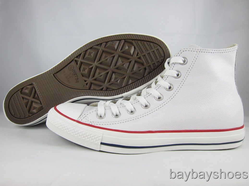 converse all stars white leather