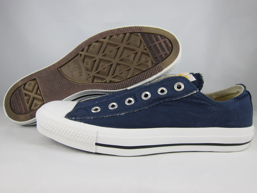 details about converse all star slip on ox chuck taylor navy blue fade. Black Bedroom Furniture Sets. Home Design Ideas