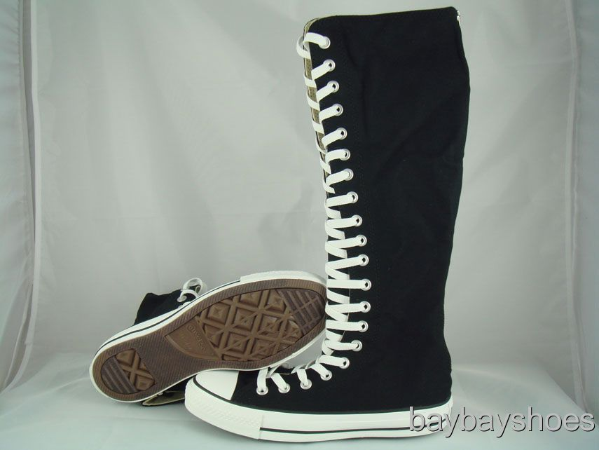 XXHI BLACKWHITE KNEE HIGH Knee High Converse Sneakers