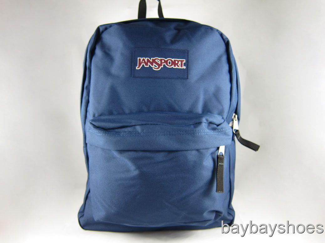 Details about JANSPORT SUPERBREAK BACKPACK SCHOOL BAG NAVY BLUEBLACK ...
