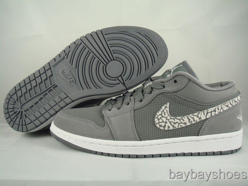 Nike Air Jordan 1 Low Cool Gray White Cement Phat Basketball Mens All Sizes