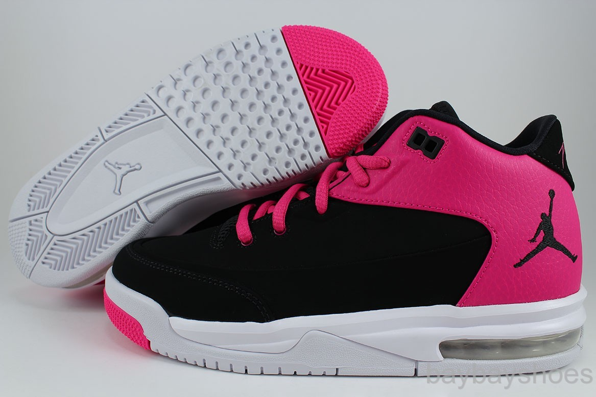 Air Jordan Flight 9 Womens White Grey Pink shoes