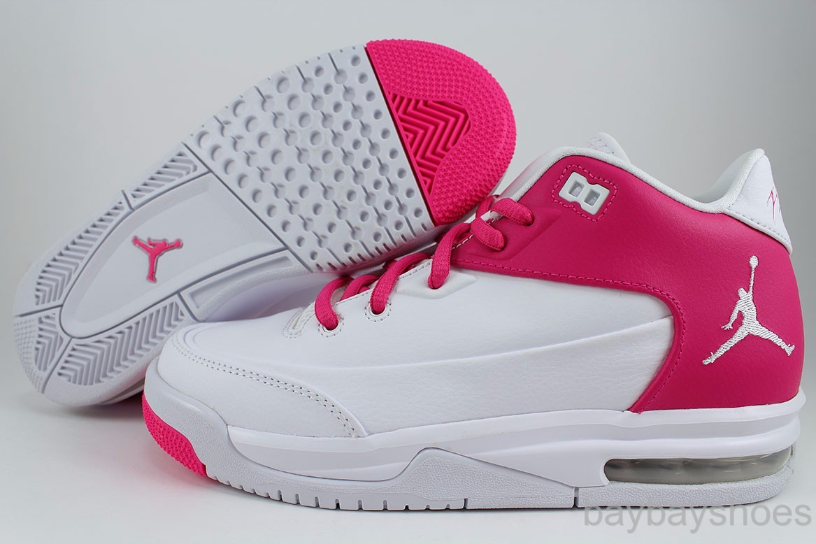 Air Jordan Flight 9 Womens White Grey Purple shoes