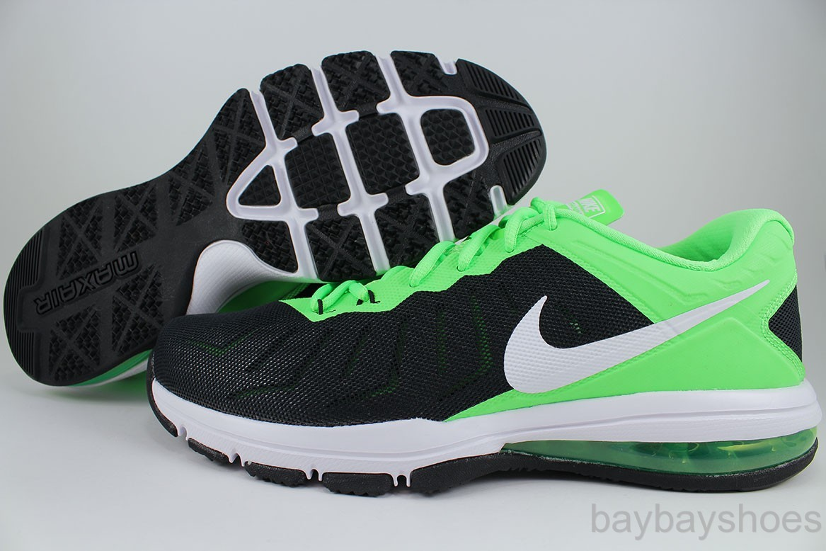fiifh NIKE AIR MAX FULL RIDE TR BLACK/WHITE/VOLTAGE GREEN CROSS TRAINER