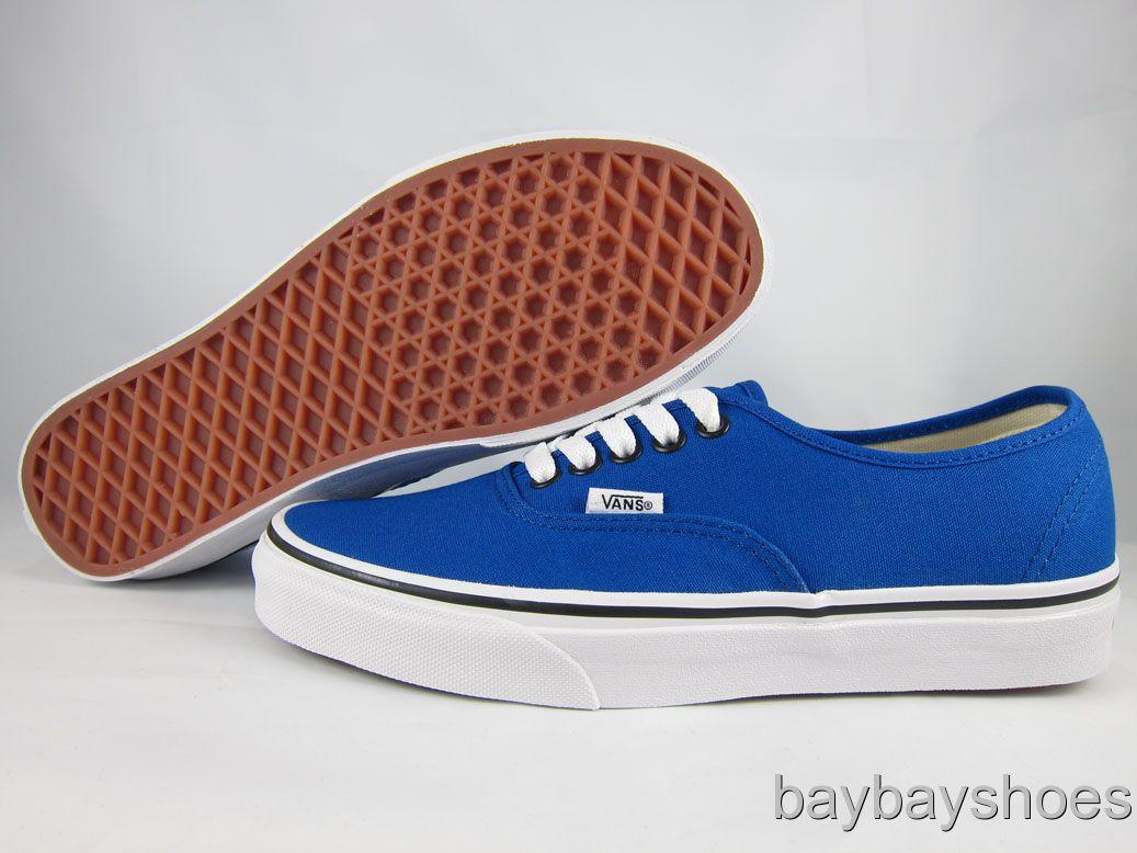 Vans Blue And White Vans Authentic Snorkel Blue