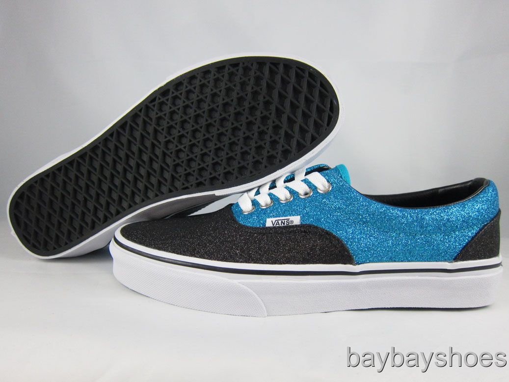 Details about VANS ERA GLITTER SCUBA TURQUOISE BLUE BLACK WHI TE    Vans Blue And Black Glitter