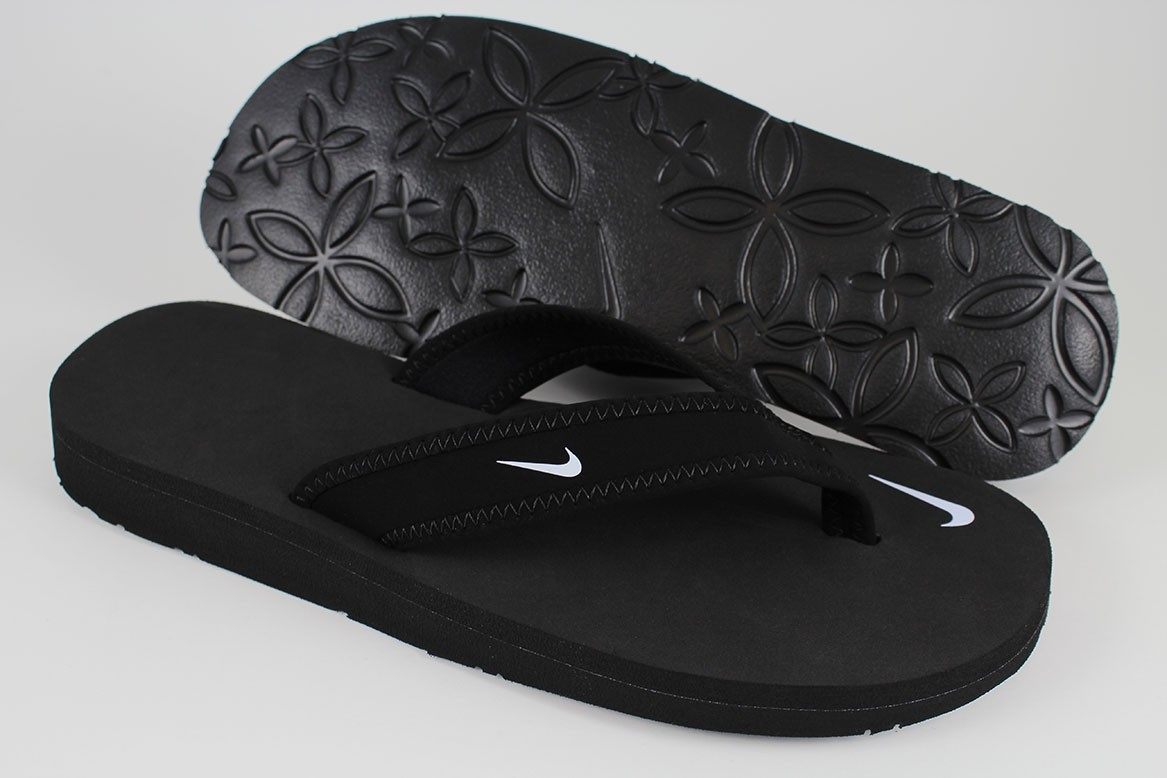 Black sandals nike - Nike Celso Girl Thong Black White Flip Flop Beach Sandals Water Us Womens Sizes