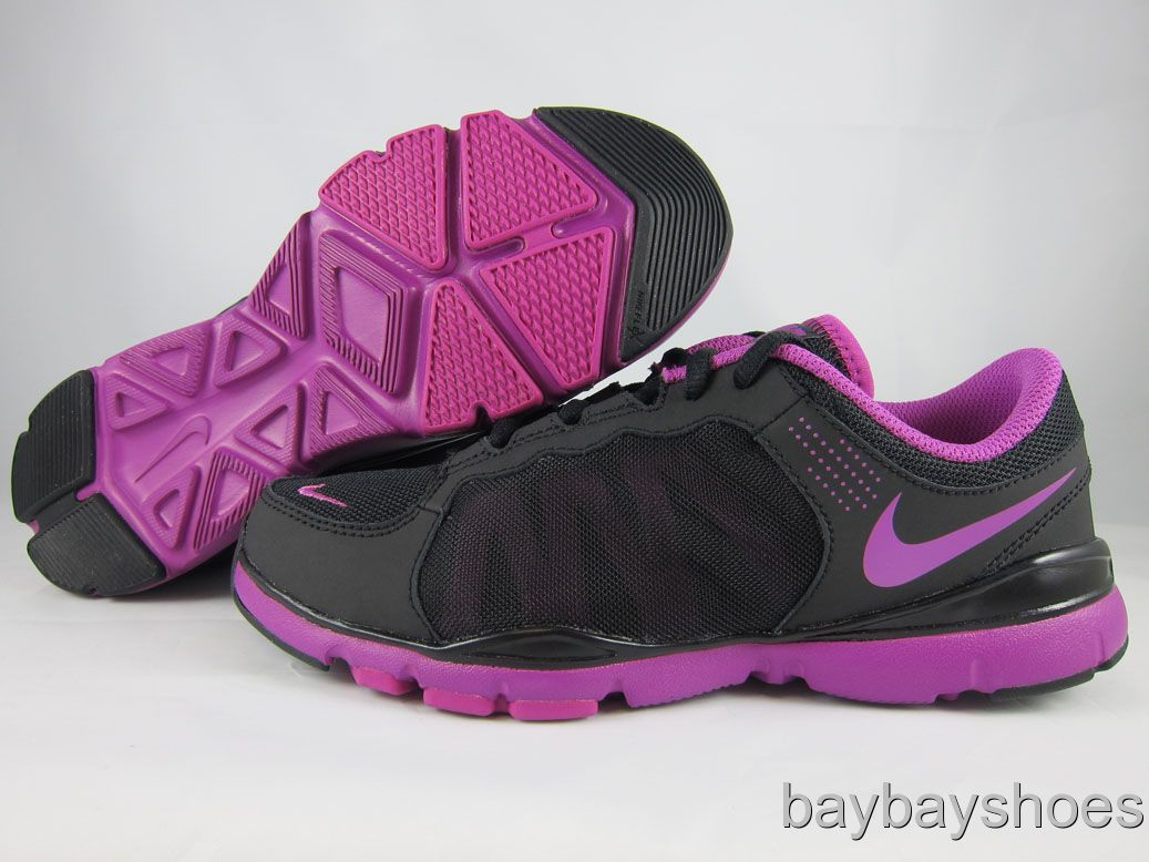 FLEX TRAINER 2 BLACK/MAGENTA PURPLE CROSS TRAINING WOMENS ALL SIZES