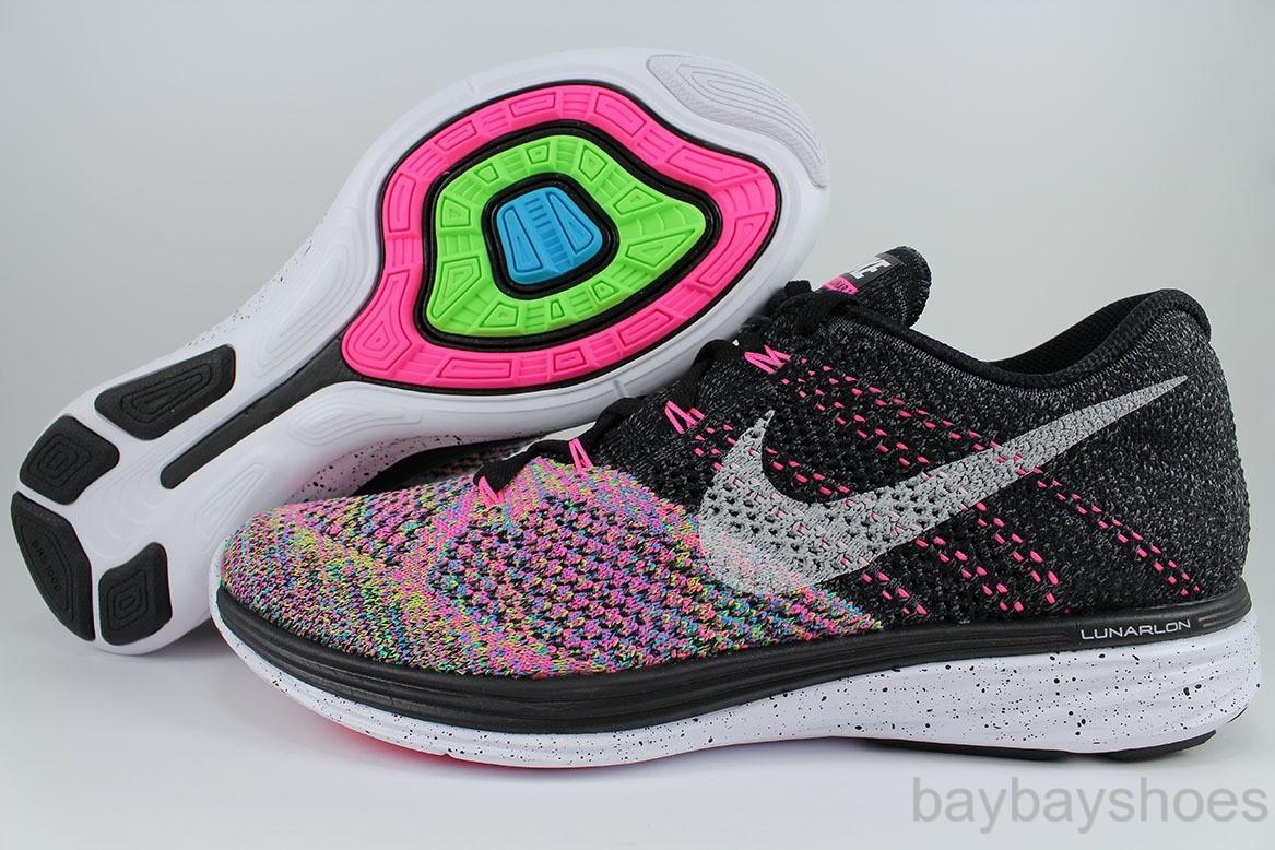 ... Womens Nike Flyknit Lunar 3 Black White Pink Pow 1 ...