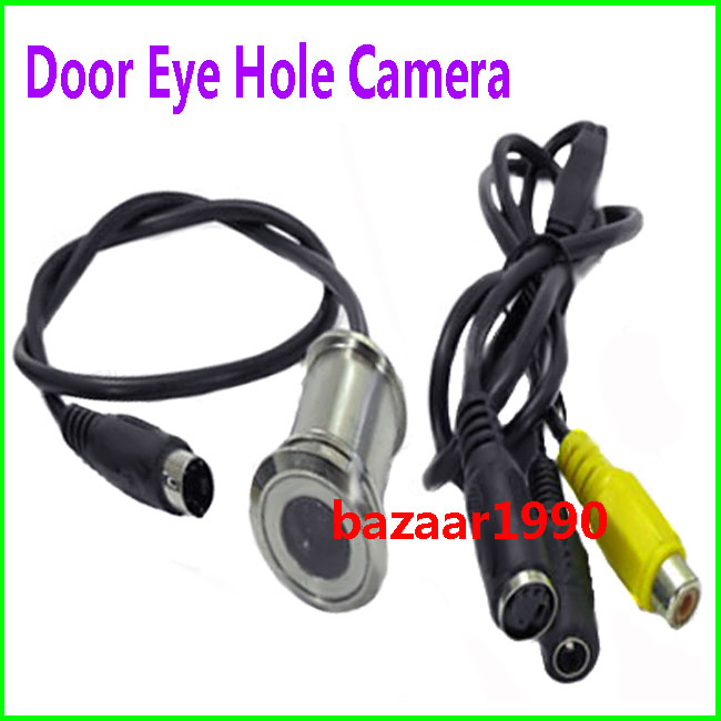 New door eye hole security color cctv camera ebay for Door eye hole