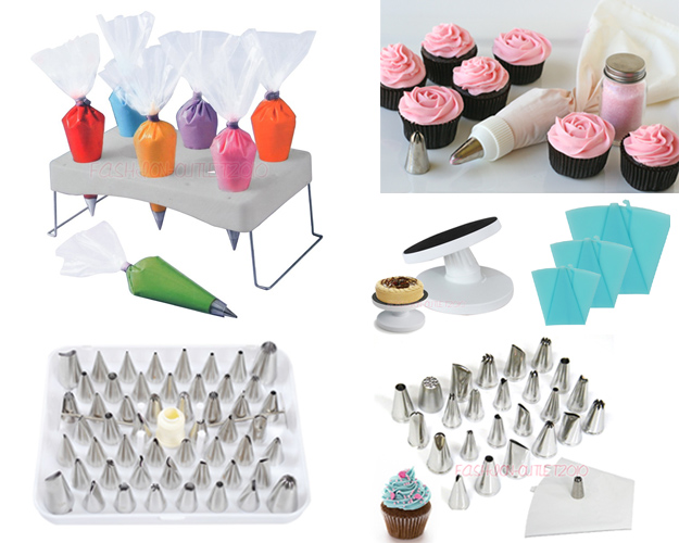 Cake Decorating Icing Nozzles : Icing Nozzles 100pcs Disposable Piping BAG Fondant Cake ...
