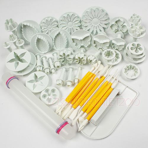11 Sets Cake Decorating Plunger Cutter Modelling Fondant ...