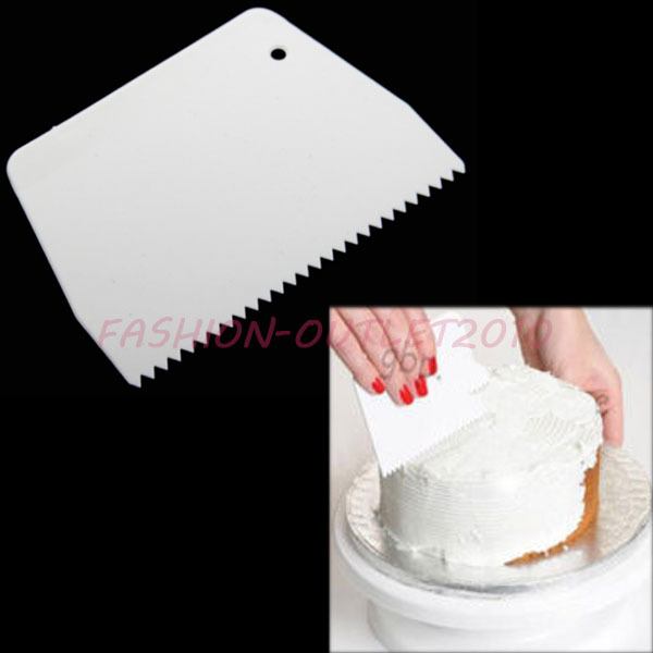 Gear Edge Icing Side Plastic Scraper Smoother Cake ...
