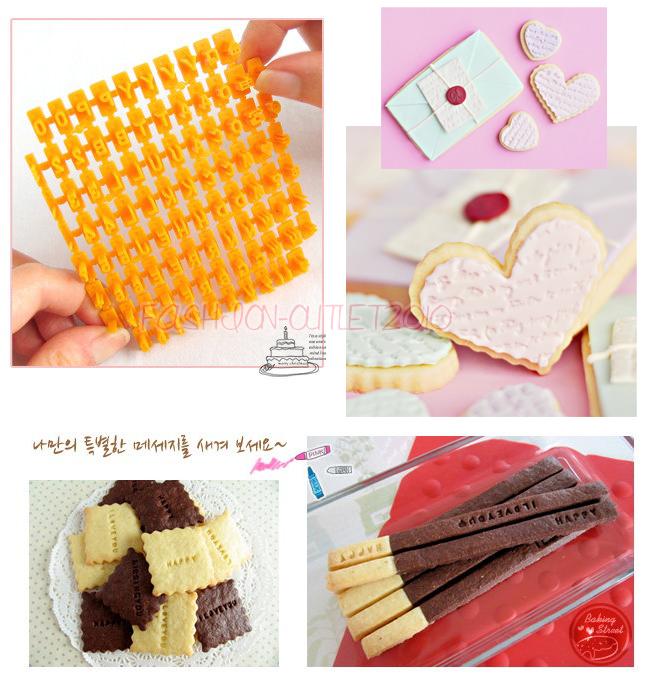 Cake Decorating Letter Cubes : Set 92p Letter/Alphabet/Number Cookie Biscuit Stamp Cutter ...