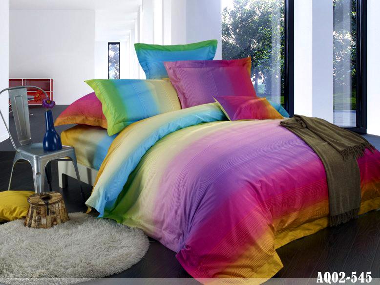 New Dream Rainbow King Size Quilt Doona Duvet Cover Set