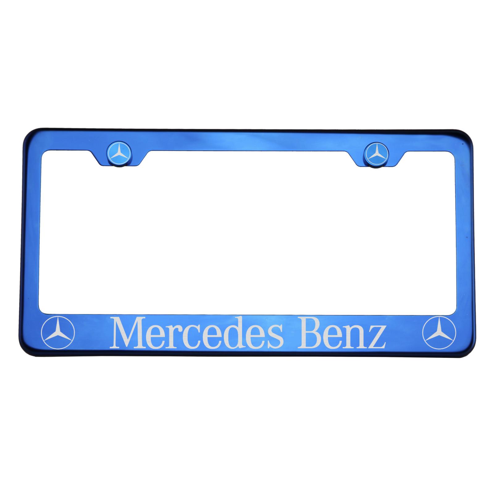 T304 Azul Cromo Placa Marco De Acero Inoxidable Mercedes Benz Láser ...