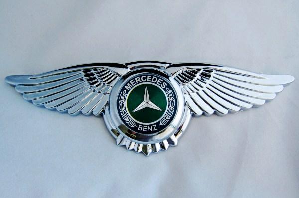 Mercedes Benz Badge Car Logo wings 3M Front Hood Bonnet Emblem 8 5 2 7