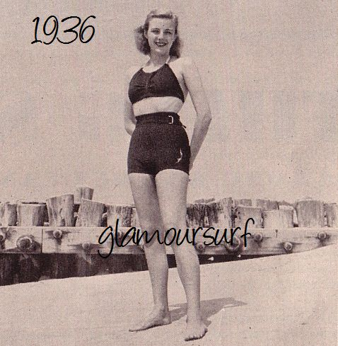 Glamoursplash swimwear through the ages the late 1930 s