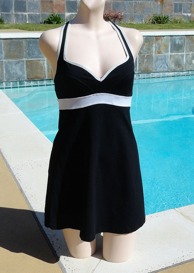 Vintage 90s BEBE Black Short Mini Dress Cover-up