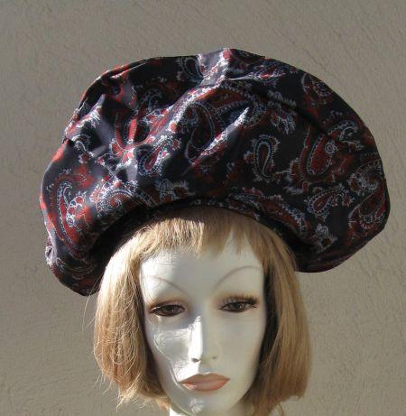 Vintage Large Paisley Turban Style Hat Cap