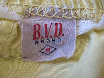 1950 BVD Label