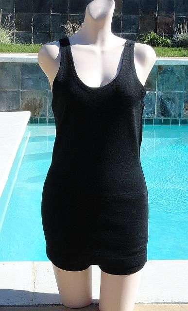 Vintage early 1930s MUNSINGWEAR Black Wool Swimsuit