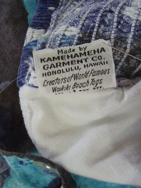 Back of 1950's Miss Hawaii label