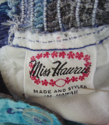 1950's Miss Hawaii label