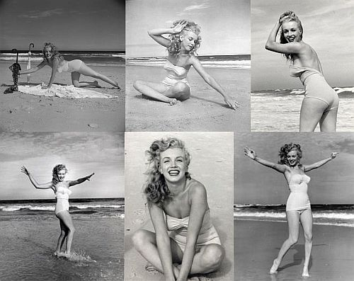 Marilyn Monroe at Tobey Beach