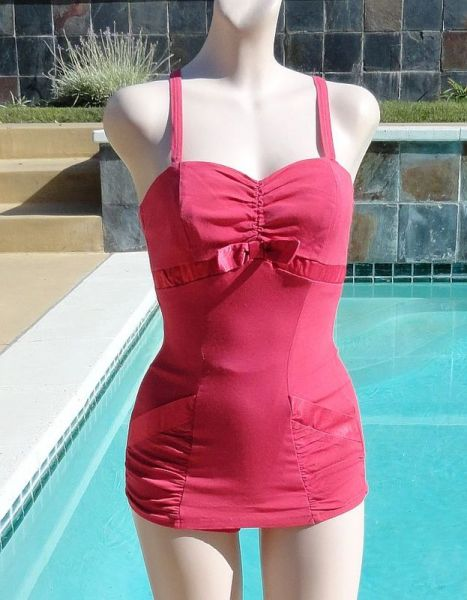 Vintage 50s Pink Catalina Swimsuit Bathing Suit
