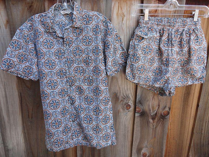 Vintage 50s Jantzen Cabana Set Trunks and Shirt