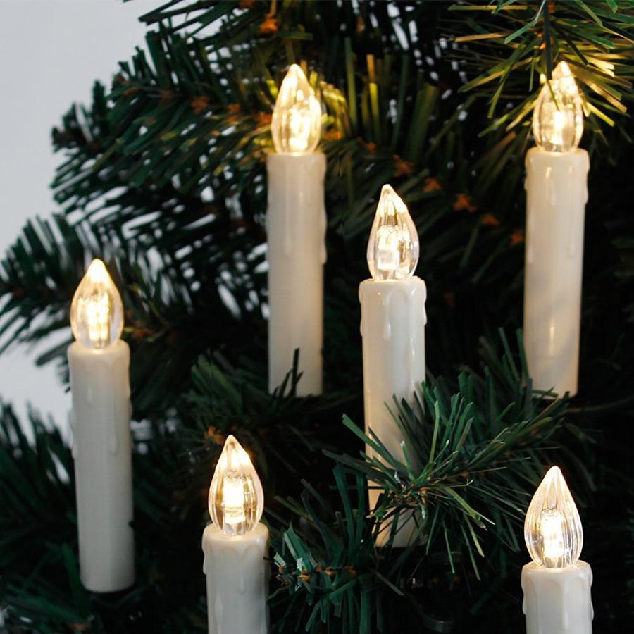 kabellose led weihnachtskerzen 10 20 30 40 lichterkette fernbedienung warmweiss ebay. Black Bedroom Furniture Sets. Home Design Ideas