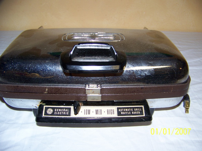 Electric Waffle Maker ~ Vintage general electric waffle iron maker griddle ebay