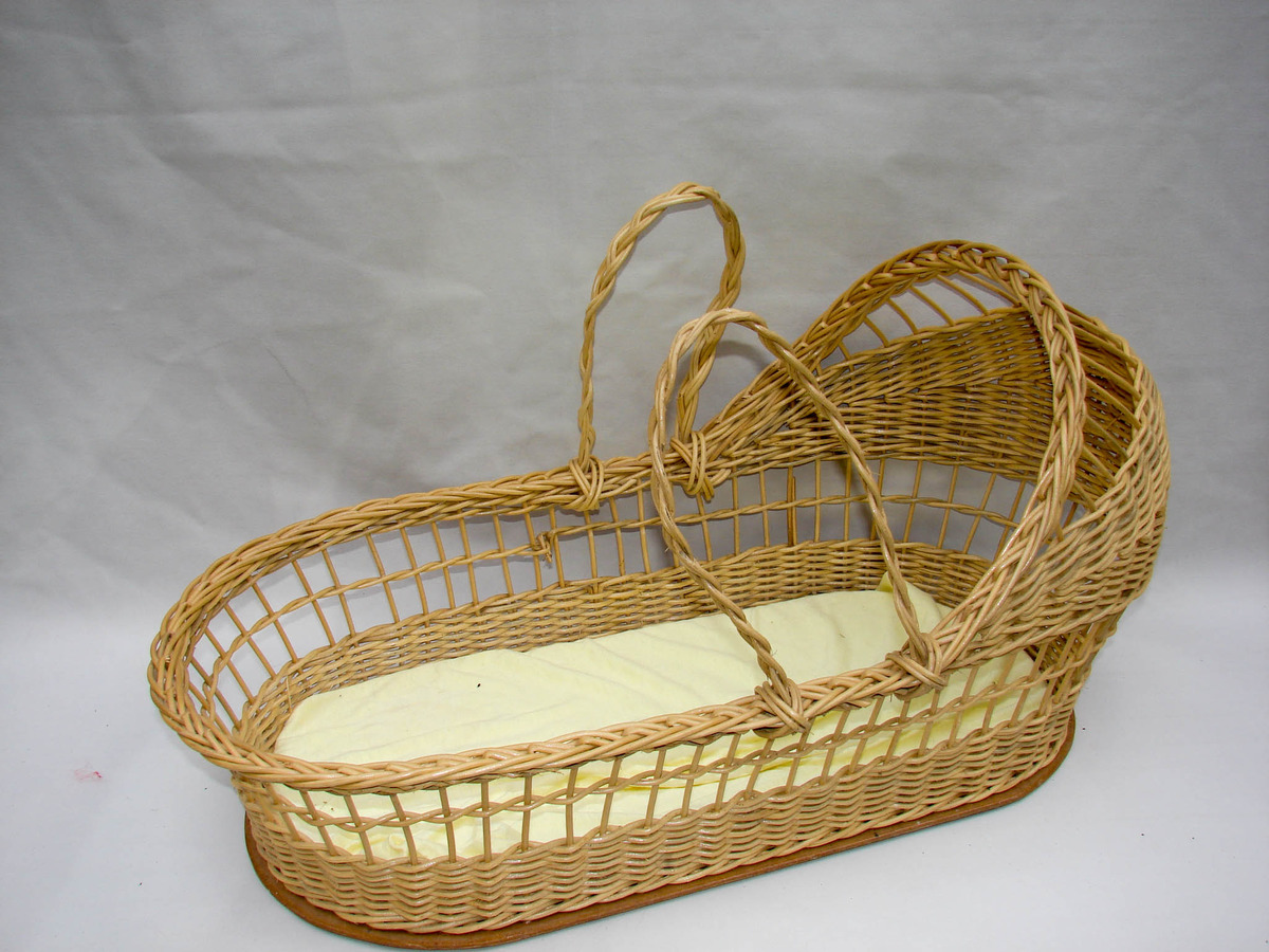 Wicker Basket Bassinet : Quot large natural wicker bassinet basket with mattress