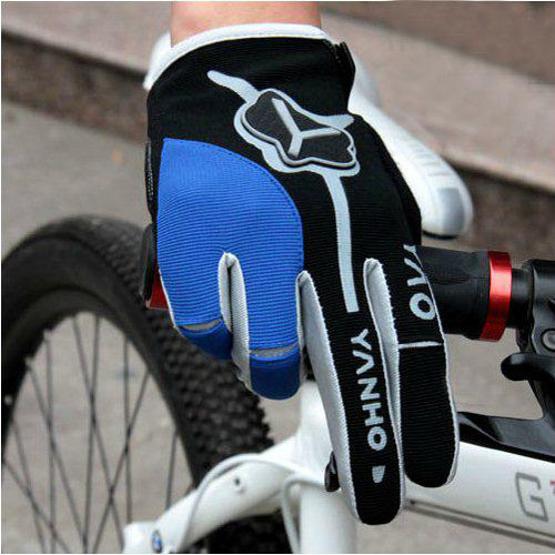 2012-Cycling-Bike-Bicycle-FULL-finger-gloves-Size-M-XL-BLUE