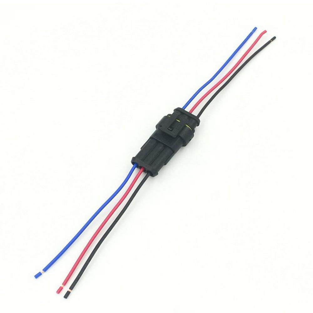 3 polig kfz lkw kabel steckverbinder stecker wasserdicht schnellverbinder ebay. Black Bedroom Furniture Sets. Home Design Ideas