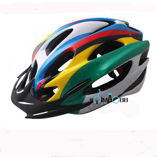 New-2015-Cycling-Bicycle-Adult-Mens-Bike-Rainbow-Helmet