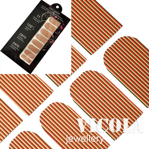 16-PCs-Nail-Art-Polish-Strip-Shape-Foil-Nail-Patch-Sticker-Armour-wrap-Decals