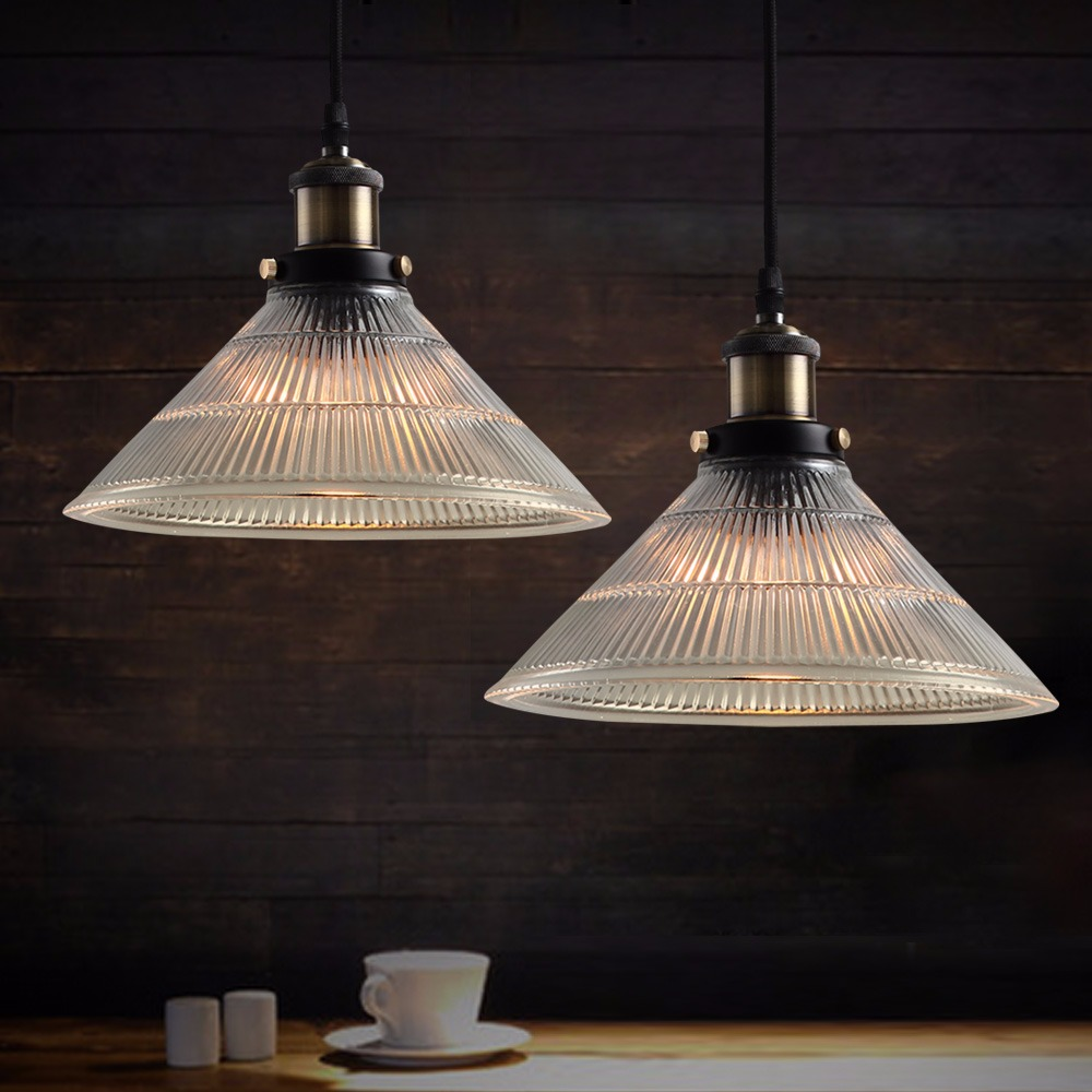 new modern vintage industrial retro cone glass pendant lamps ideal