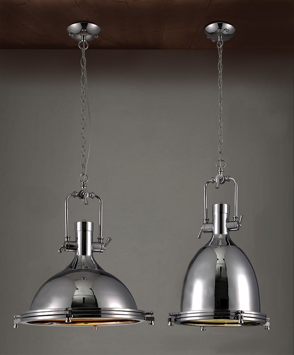 Details about NEW Modern Industrial Retro Nautical Chrome Pendant Lamp ...