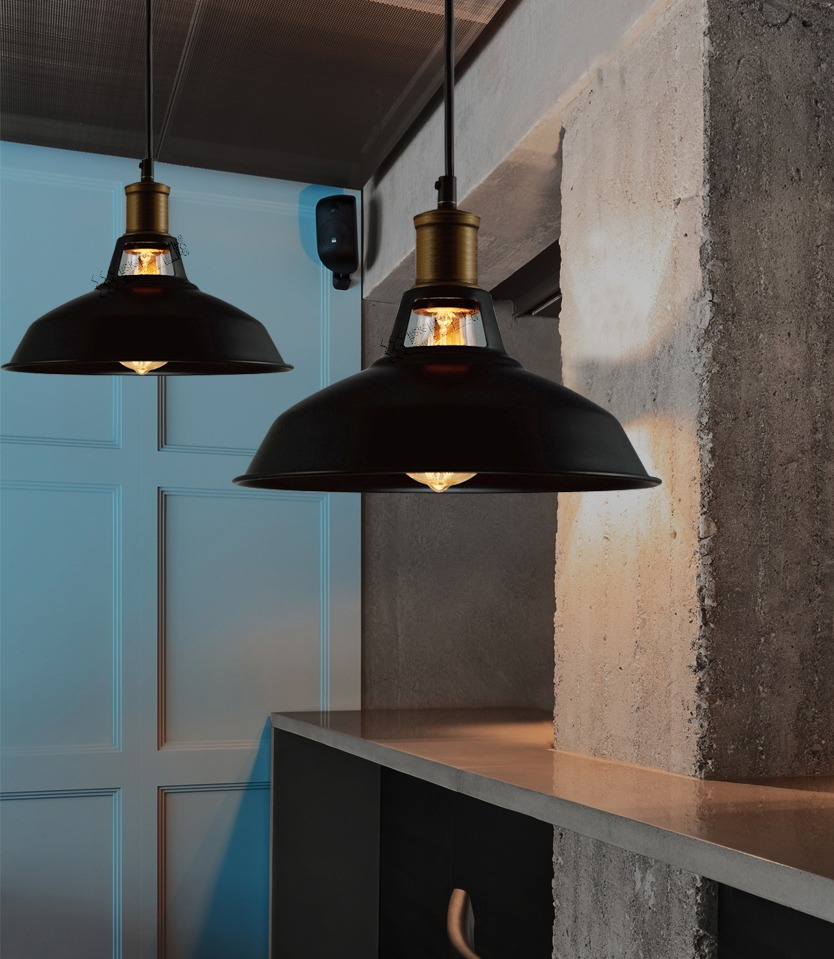 industrial retro vintage black pendant lamp kitchen bar