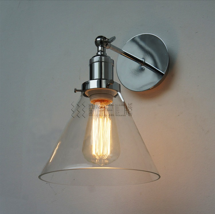 Industrial Chrome Wall Lamp Retro Wall Light Rustic Wall Sconce Vintage Light eBay