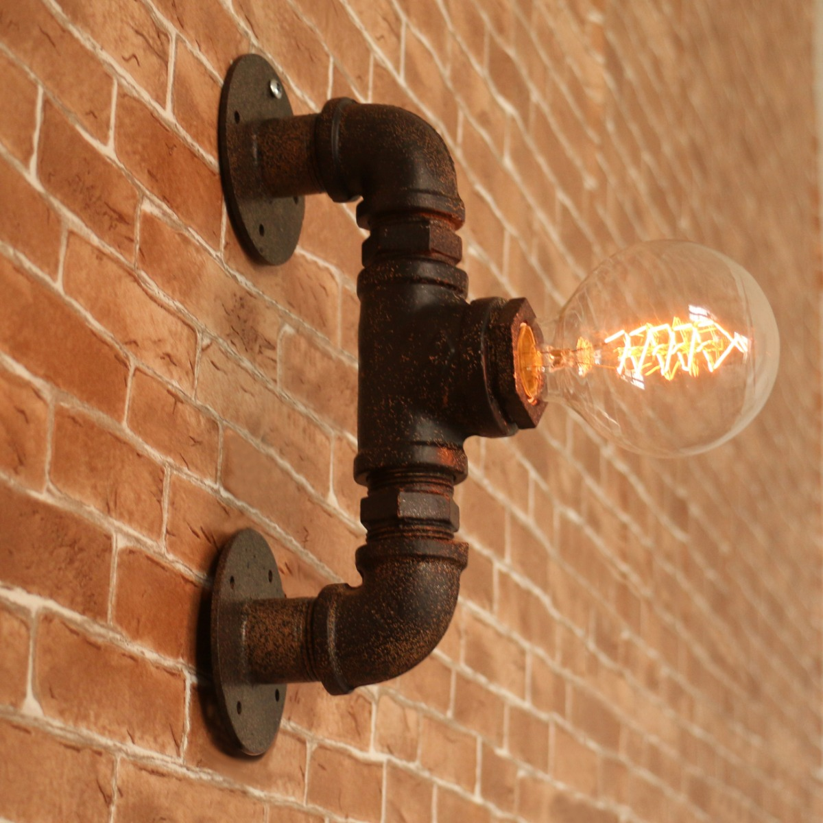 Industrial Pipe Wall Light: Industrial Wall Pipe Lamp Retro Wall Light Rustic Vintage