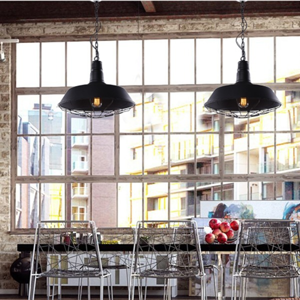New Industrial Cage Pendant Lamp Retro Vintage Ceiling